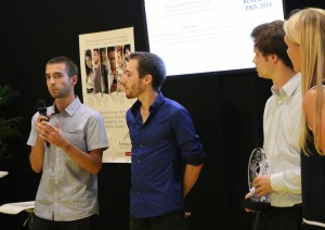 Pierre CHARLIERPierre CHARLIER, lauréat « Prix de l'Intrapreneuriat », CREA'SUP 2015